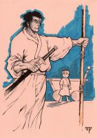 LoneWolf and Cub by guillomcool