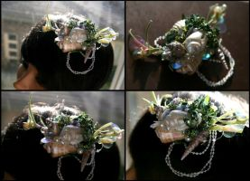 Emerald Siren Hair Fascinator by TheRealLittleMermaid