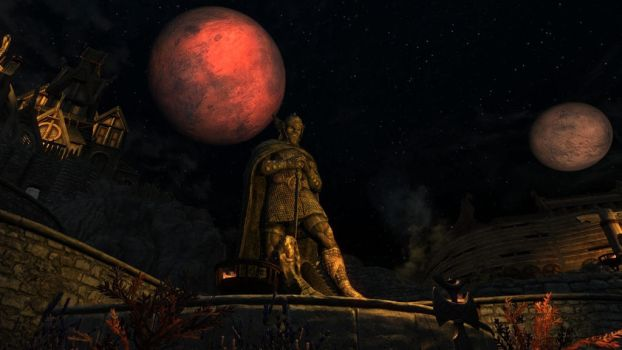 Talos and the twin moons by Amnesiaofdarkness