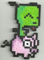 Gir on pig by Ravenfox-Beadsprites