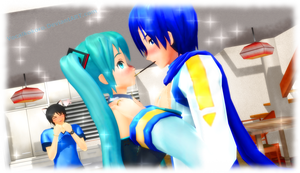 .:MMD:. Pocky Game~ by Vocalkokoro