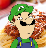 Luigi Likes Lots of Spaghetti by pikmin789