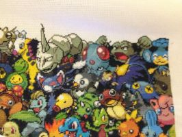 Pokemon all Gens - Second row finished by samarin6