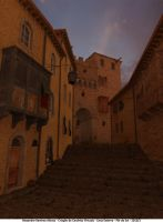 Street at dusk by Alex-R-Alonso