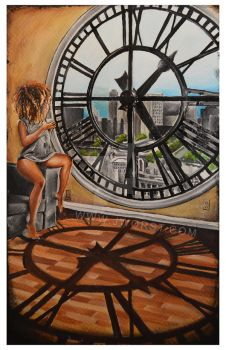 Only Time Will Tell by Jeremy Worst Acrylic Painti by JeremyWorst