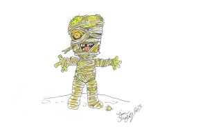 Mini Monsters 009 - Mummy by Shapshizzle