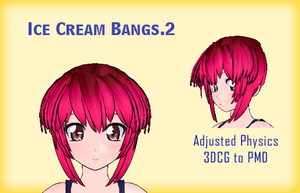 MMD- Ice Cream Bangs.2 -DL by MMDFakewings18
