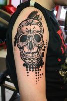 Skull and pixels by SimplyTattoo