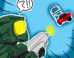 Master chief is confuzzled by evillittlecherry