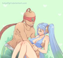 Sona x Leesin censored by HolyElfGirl