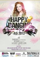 Happy Dancing at Pekelnej Bar 4|5|2012 - flyer by jeesica