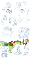 Gwee Meets Rayman doodle page - part 7 by EarthGwee