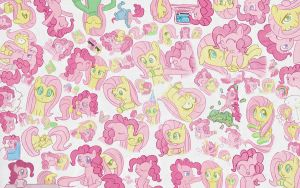 Pinkie Pie Fluttershy Wallpaper by CWArtist
