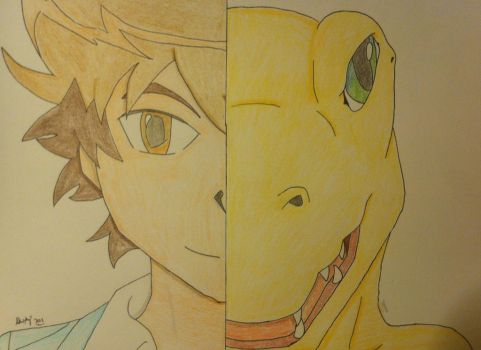 Request - Tai and Agumon by Sleipmon03