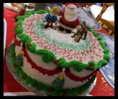 Rudolph the Red-Nosed Reindeer Cake by Leara