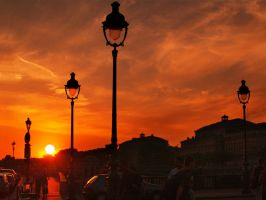 sunset Parisienne by VaggelisFragiadakis