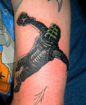 Dead Space tattoo finished by Gphill25291