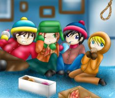 South Park in Mah Style :3 by MayJasmine