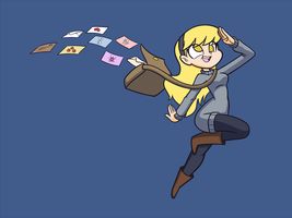 Derpy dropping mail by Kanduli