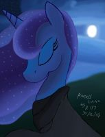 Princess luna in the moonlight by Renegade-157