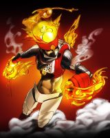 MegamanX Drive: fire by nateman-is-me