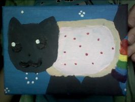 Nyan Cat Painting by bonny1011
