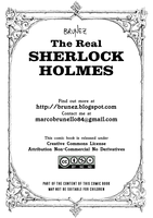 First page of The real Sherlock Holmes comic book by marcobrunez