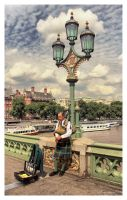 London Bagpiper by Pajunen