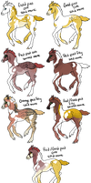Goldy x Ruby Foals by gyngercookie