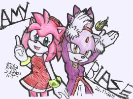 Amy and Blaze by heitor-jedi