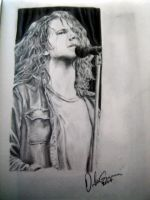 Drawing of Eddie Vedder by GloriousEuph0ria