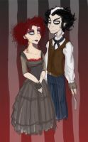 Sweeney and Mrs.Lovett by Freak-Egg