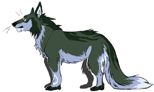 Long haired Direwolf -OPEN- by ElectricSilence