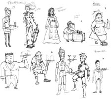 Thumbnails - Servants by TwilightsDon