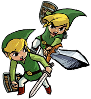 Toon Link and Toon Link...? by Legend-tony980