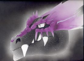 purple dragon by ghost010