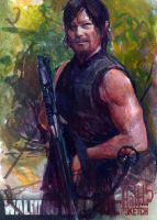 walking dead 2015 sketch card 4 by charles-hall