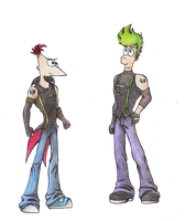 Phineas and Ferb :Colored: by ColorfulCandie