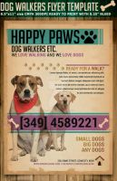 Dog Walkers Flyer Template by Hotpindesigns