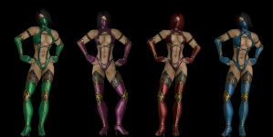 MK9 Mileena. Recoloring fun. by DP-films