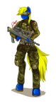 Battlefield Pony -Commission- by Jesuka