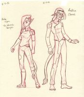 More Kerne Characters Anha and Andice by neilak20