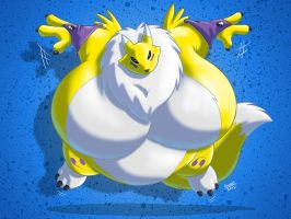 Sumo Renamon by RickyDemont