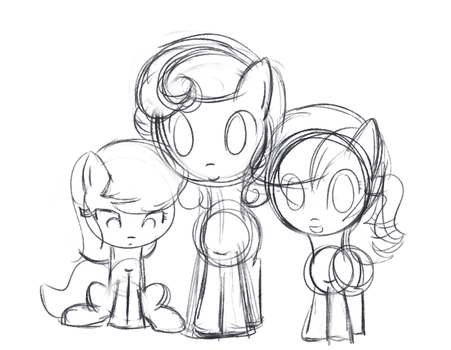 Flower Trio Filly Sketches by Why485