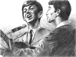 2of us Beatles pencil by mozer1a0x