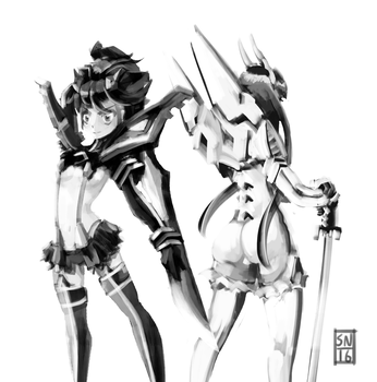 Ryuko and Satsuki Kill La Kill by AdaptableSimon