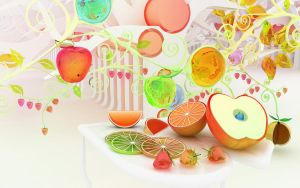 Chromatic fruits by k3-studio