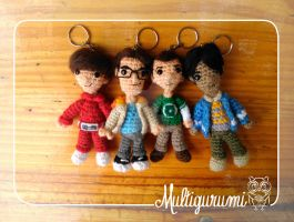 Howard, Leonard, Sheldon, Raj -The Big Bang Theory by Multigurumi