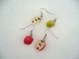 Winter Apple Earrings :3 by Kalullywaii