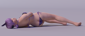 Ayane 3DS Render 26 by x2gon